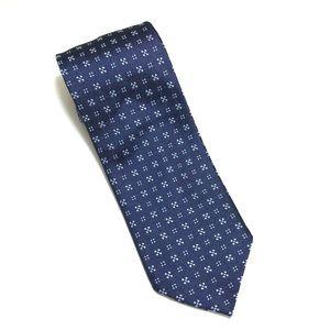 JOS. A. Bank Blue Geometric Tie -100%silk 59Lx3.5W